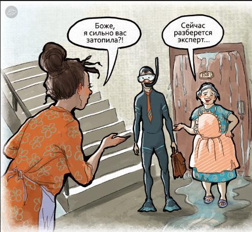 Независимая экспертиза после затопления квартиры